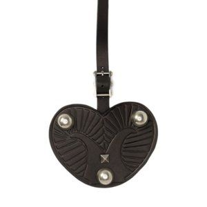NEW Valentino Leather Heart Keychain